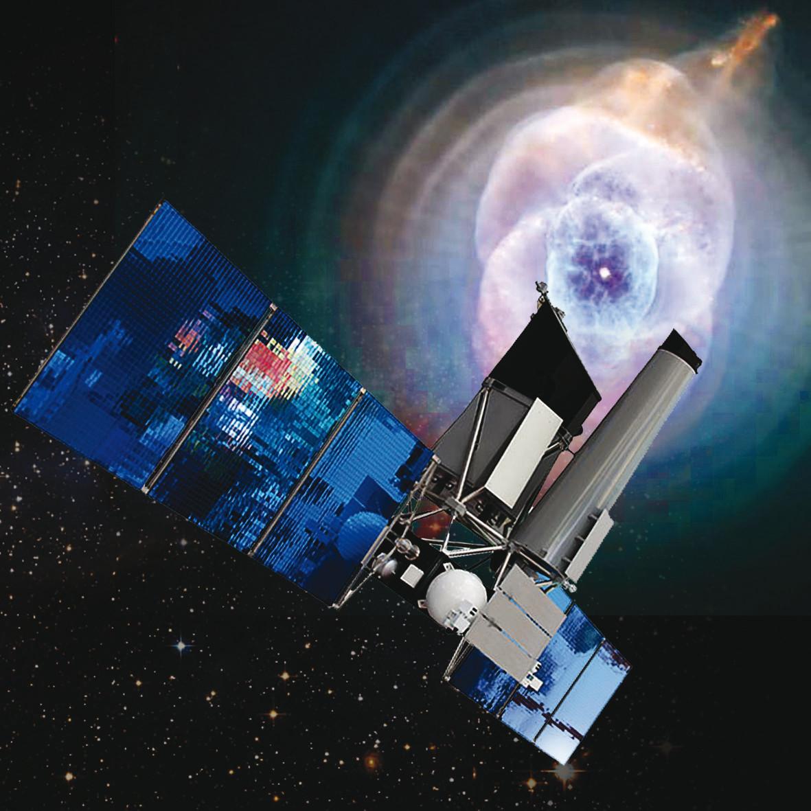 The Russian-German space probe Spektrum-Roentgen-Gamma in space